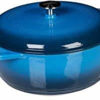 AmazonBasics Enameled Cast Iron Dutch Oven - 6-Quart, Blue