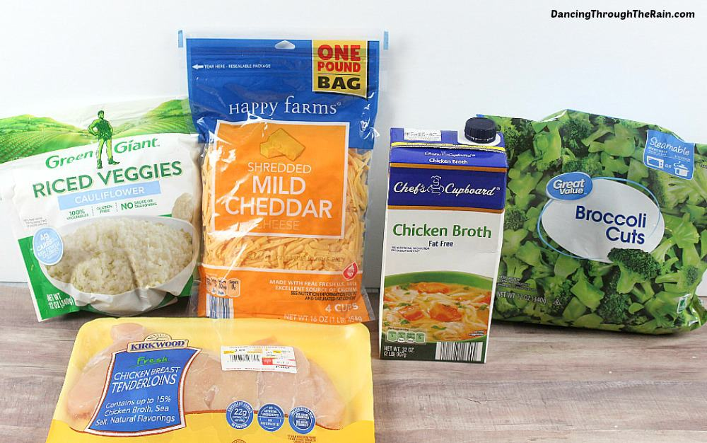 Ingredients for gluten free chicken broccoli casserole