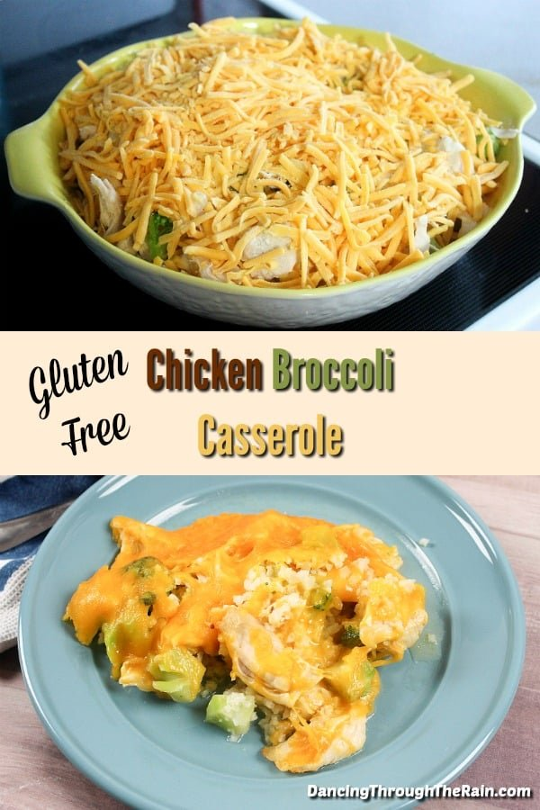 Gluten Free Chicken Broccoli Casserole - This is one of those gluten free casserole recipes that will help you get some extra vegetables into your dinner! Easy, delicious, and topped with cheese, it may just become your new favorite! As gluten free recipes go, this one is something anyone can make! #recipes #glutenfreerecipes #glutenfree #vegetables #keto #ketorecipes #ketodiet #atkins