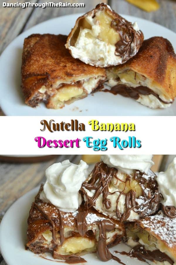 Nutella Banana Dessert Egg Rolls