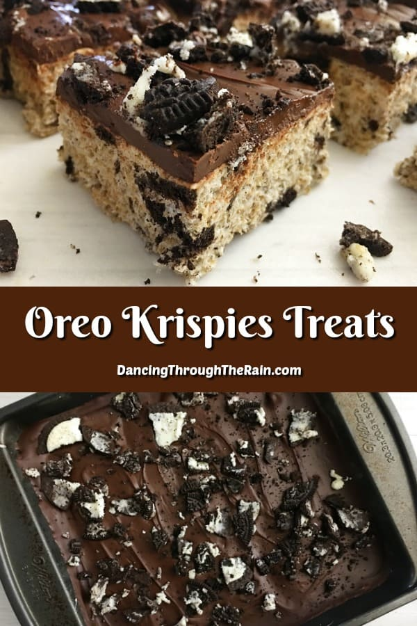 Oreo Krispie Treats are some of the most universal and easy desserts that you're going to find! Gooey and chocolatey, this no-bake dessert is a winner! #nobakedesserts #dessertrecipes #ricekrispie #ricekrispietreats #ricekrispiestreats #ricecrispy #oreos #recipeswithoreos