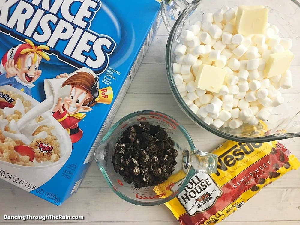 Oreo Rice Krispie Treats ingredients