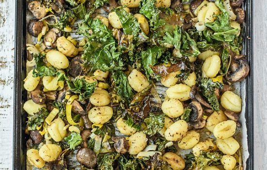 Sheet pan gnocchi and roasted vegetables