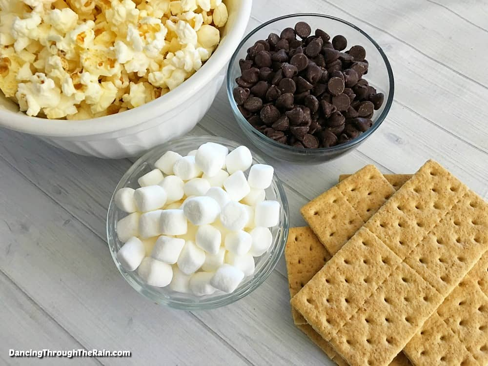 Ingredients for S'mores Popcorn