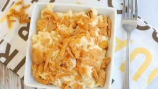 Mac And Cheese With French Fried Onions