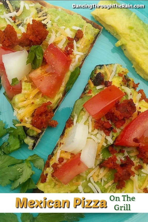 Slices of Mexican Pizza on the Grill