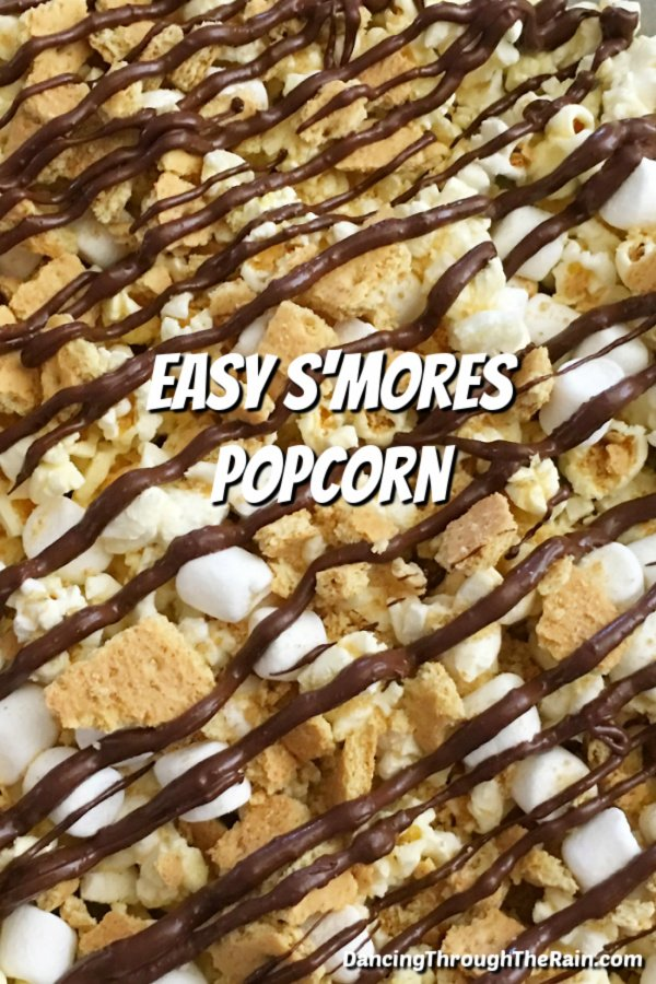 A closeup of Easy S'mores Popcorn