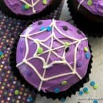 Deliciously Spooky Spiderweb Cupcakes