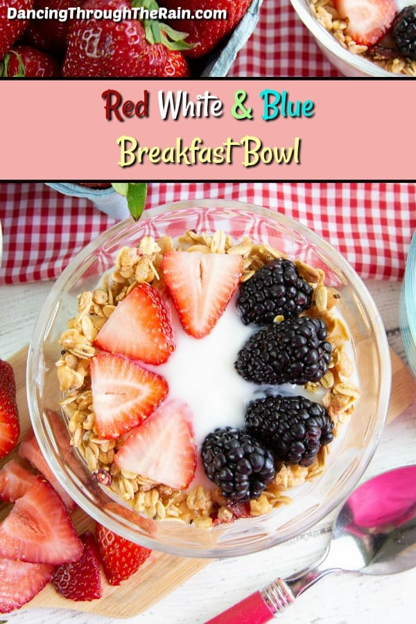 Red White And Blue Breakfast Bowl