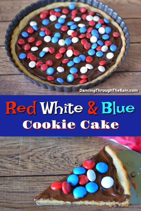 Red White & Blue Cookie Cake
