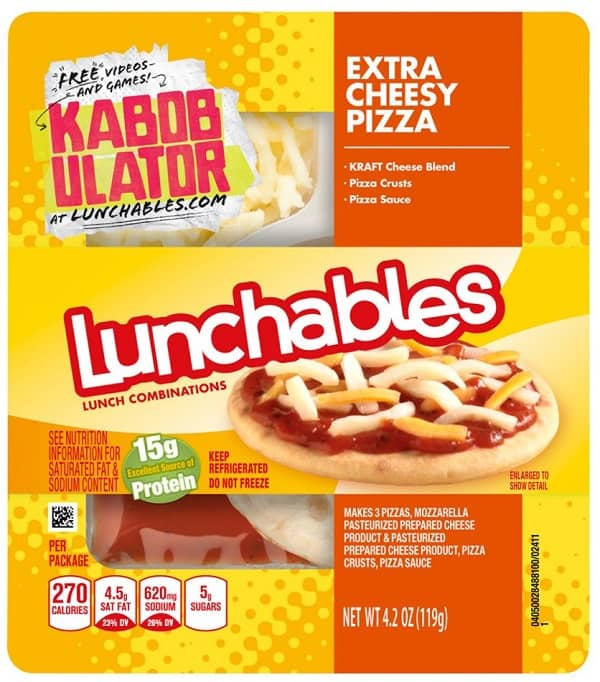 Lunchables Pizza Box
