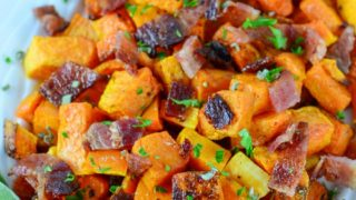Roasted Butternut Squash With Bacon