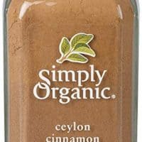 Simply Organic Ceylon Cinnamon, Ground | Certified Organic | Kosher Certified | 2.08-Ounce Glass Bottle