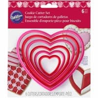 Wilton 2304-1668 6 Piece Nested Heart Shaped Cookie Cutter Set