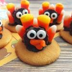 No-Bake Candy Corn Turkey Cookies