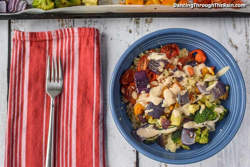 Rainbow Veggies in a bowl