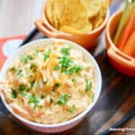 Easy Buffalo Chicken Dip (With Canned Chicken!)