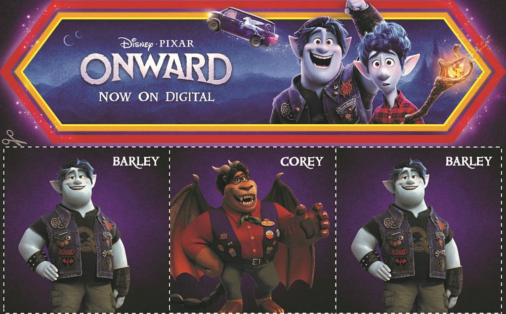 Images from Disney Pixar Onward movie