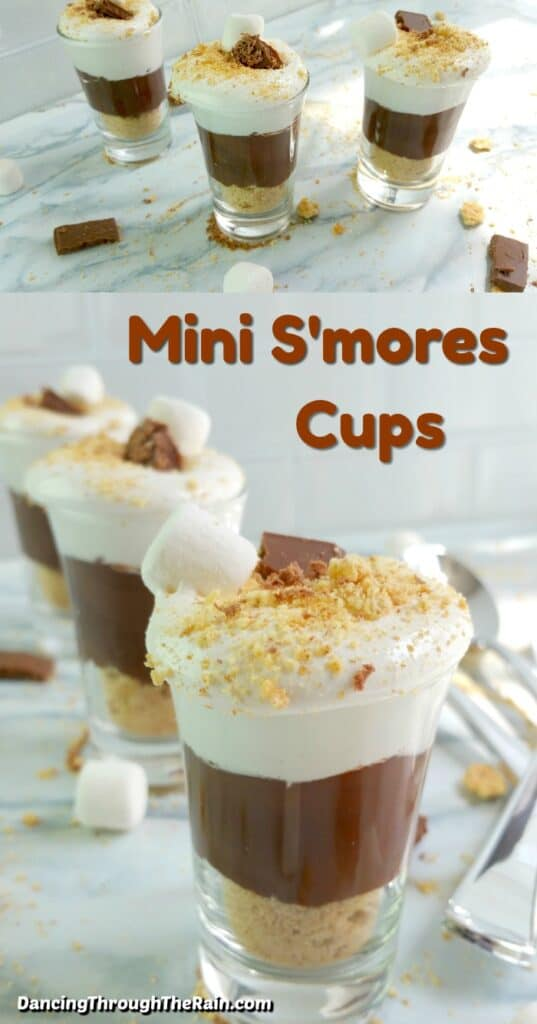 Two pictures of No-Bake Mini S'mores Cups