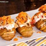 Loaded Hasselback Potatoes With Bacon & Doritos