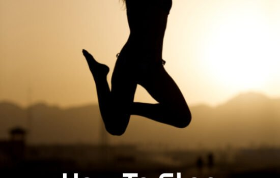A woman jumping in the air with the words How To Stop People Pleasing And End Bad Habits below her